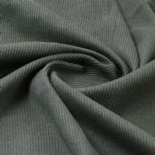 Khaki - Plain 100% Cotton 2x1 Rib